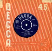 Billy Fury - Somebody Else's Girl/Go Ahead And Ask Her  (F 11744)